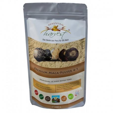 PERUVIAN harvest® Premium Maca w proszku 4:1 - 200g, EKO
