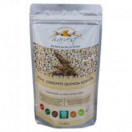 PERUVIAN harvest® Surowe, skiełkowane ziarna komosy ryżowej - 250g, EKO