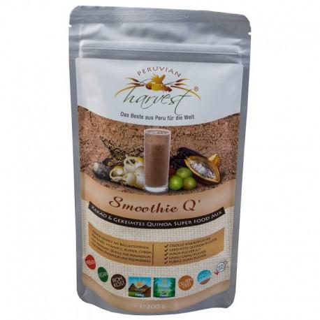 PERUVIAN harvest® Smoothie Q - Koktajl Kakao Criollo Super food MIX kakao maca fioletowa skiełkowana komosa ryżowa