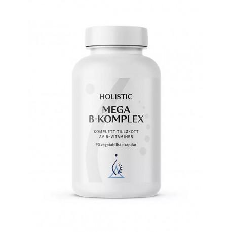 Holistic Mega B-komplex witaminy z grupy B zestaw witamin metylokobalamina B12 biotyna kwas foliowy witamina B1 B2 B3 B6