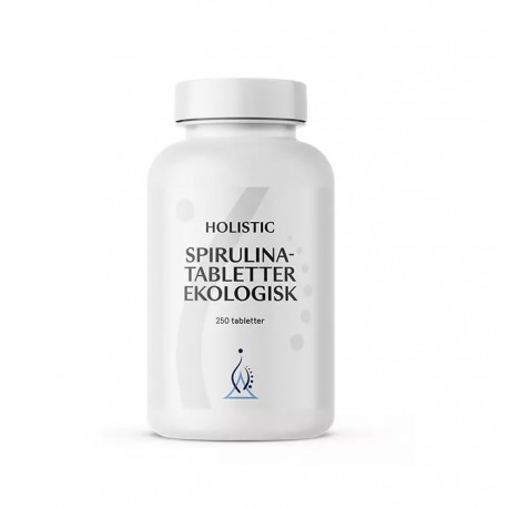 Holistic Spirulinatabletter Spirulina platensis 250 tabletek
